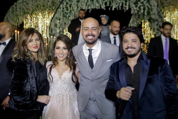 Shatha et Mostafa Haggag avec la mariée