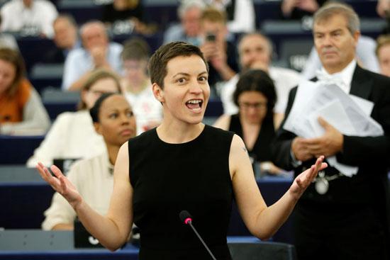 عضو البرلمان الأوروبى الألمانى سكا كيلر المرشحة لرئاسة البرلمان الأوروبى