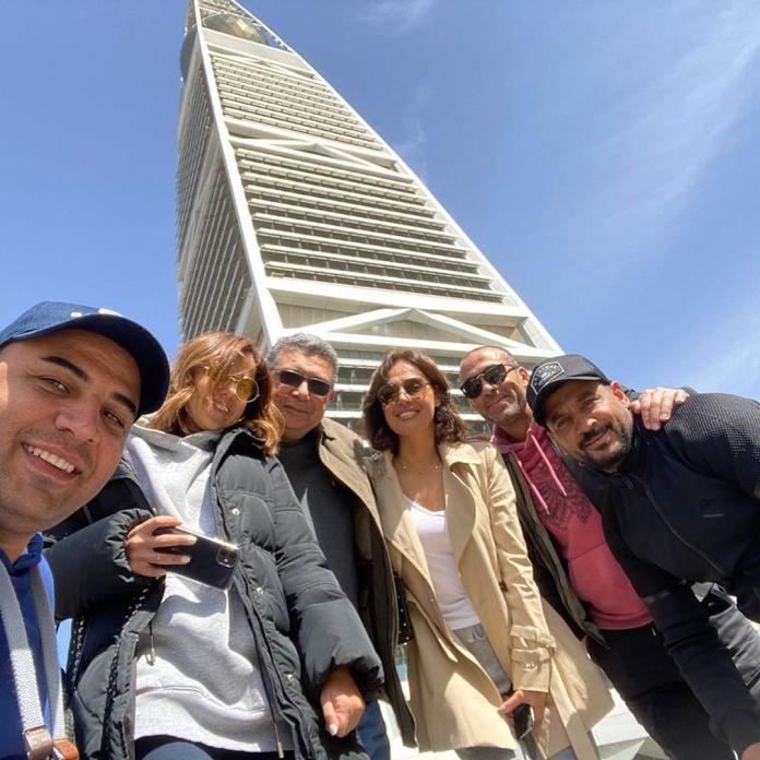 Hala Shiha and Majid Al-Kidwani with the film family