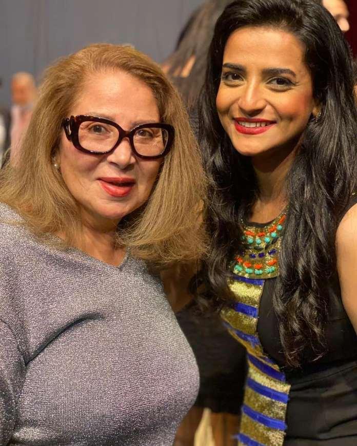 Actress Bossi accompanied by Shaima Abbas