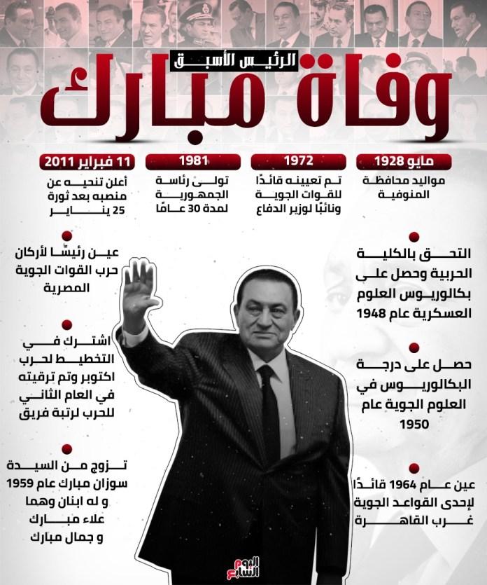 The late President Hosni Mubarak