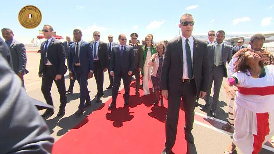 مراسم-استقبال-رسمية-السيسي-بأثيوبيا-قبل-قمة-الاتحاد-الأفريقى-(5)