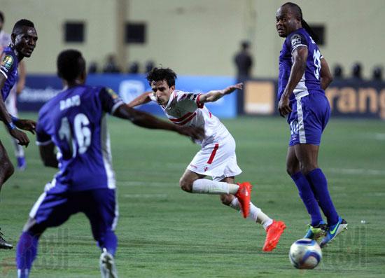 Zamalek and Animba match in the 2016 Champions League