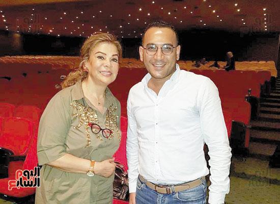 Tamer Ismail with Safaa Abu Al-Saud