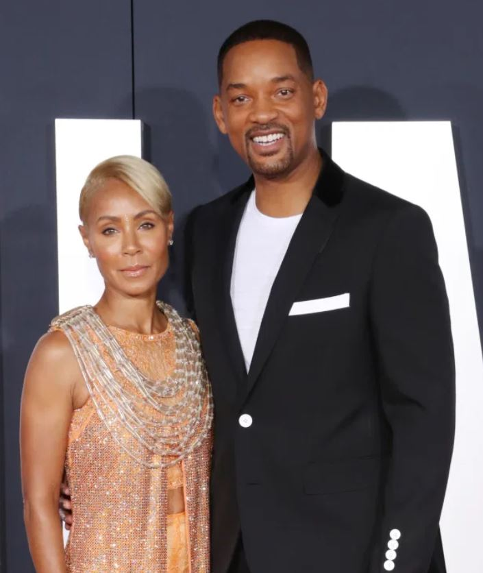 Will Smith with the American actress Jada