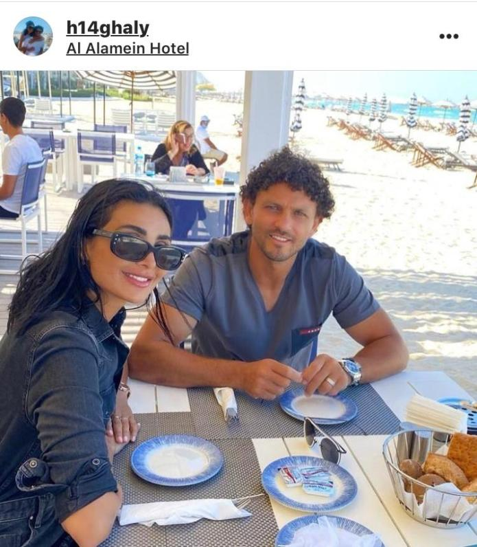 Hossam Ghaly and his wife