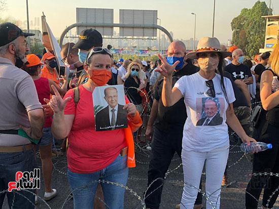 تظاهرات دعما للرئيس اللبنانى فى بيروت (5)
