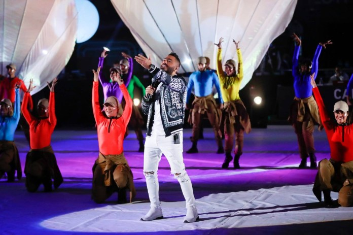 Tamer Hosni appears in the wonderful opening of the Handball World Cup (3)