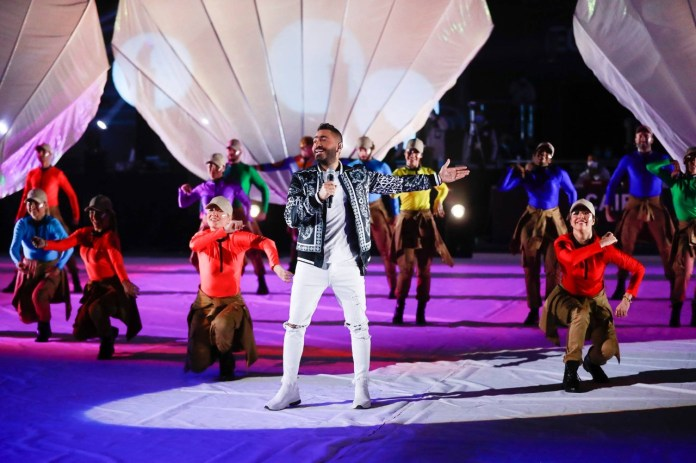Tamer Hosni appears in the wonderful opening of the Handball World Cup (1)
