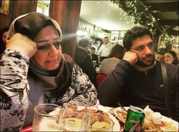 Hassan Al-Raddad and his mother