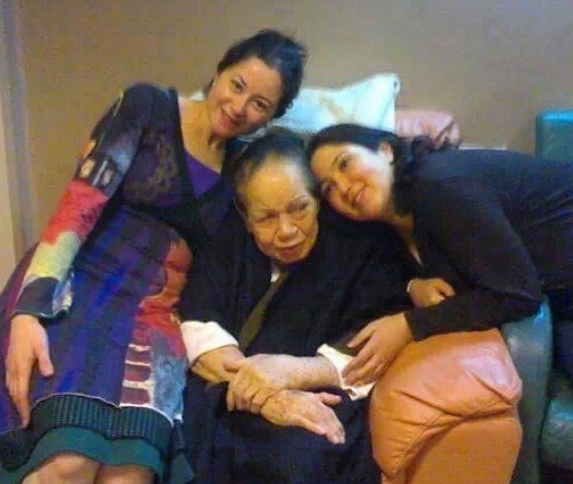 Mai Nour Sharif with her grandmother