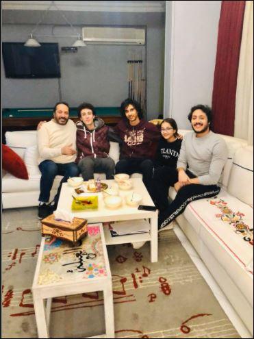 Ali Al Hajjar celebrates the birthday of his son Nour