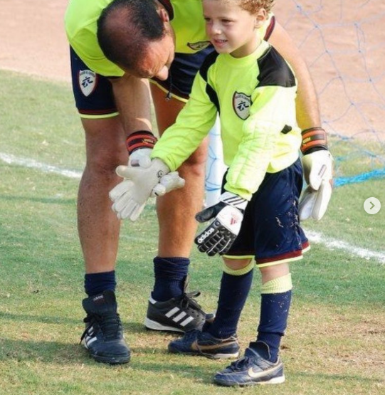 Nader El-Sayed with his son Ahmed