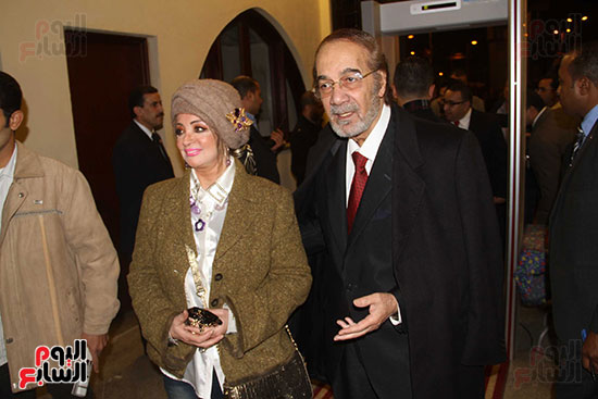 Mahmoud Yassin and his famous wife at the opening of the National Theater