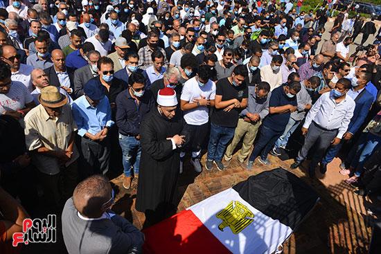Funeral prayer for Mahmoud Yassin's soul