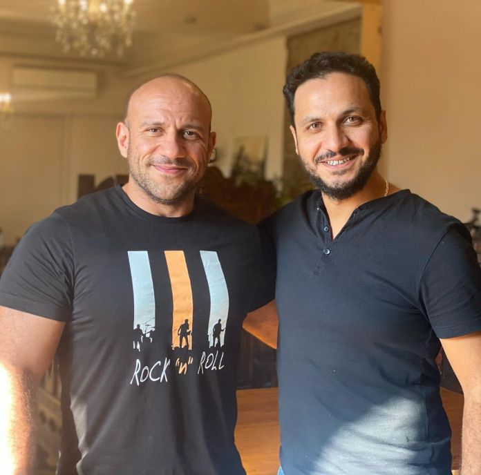 Ahmed Makki with Peter Mimi, director of choice 2