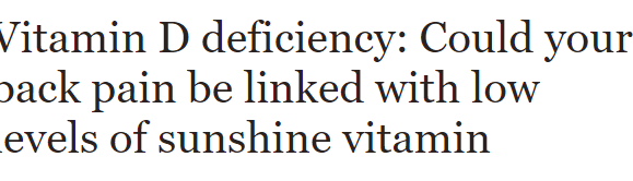 Complications from low vitamin D levels