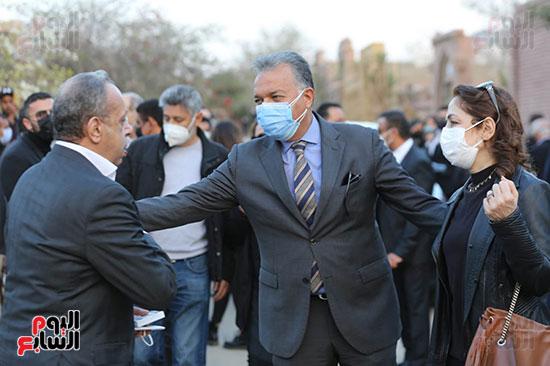 هشام عرفات بجنازة الجنزورى
