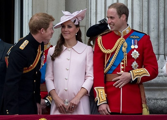 Prince William and his wife and brother Harry