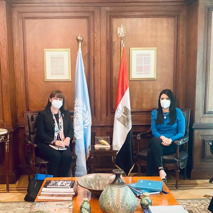 وزيرة التعاون الدولي والمنسق المقيم للأمم المتحدة في مصر