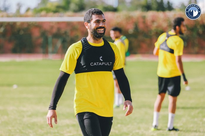 Smile Ahmed Fathy in Pyramids training