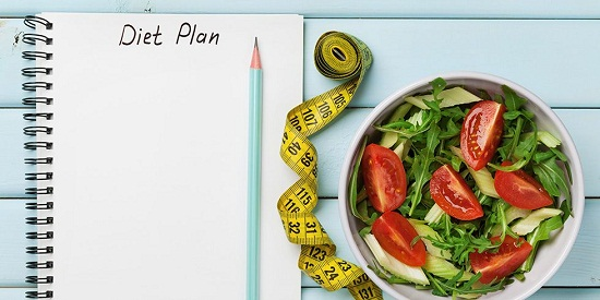 Diet regimen to lose weight in a month
