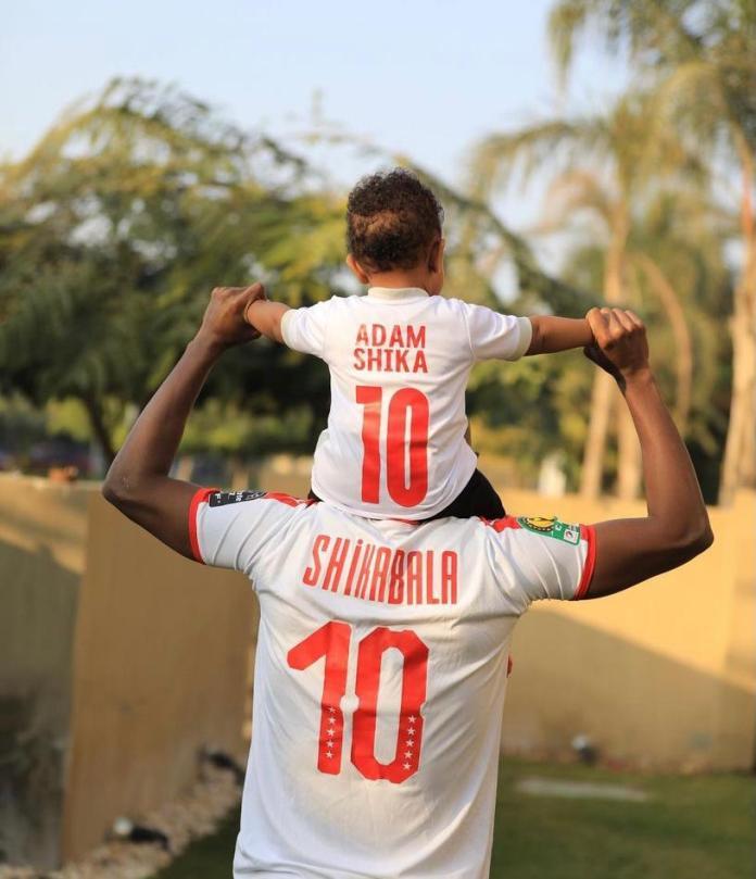 Shikabala and his son Adam