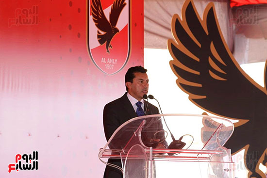 Ceremony laying the foundation stone for Al-Ahly Stadium (61)