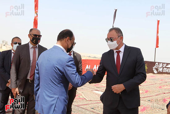 Ceremony of laying the foundation stone for Al-Ahly Stadium (1)