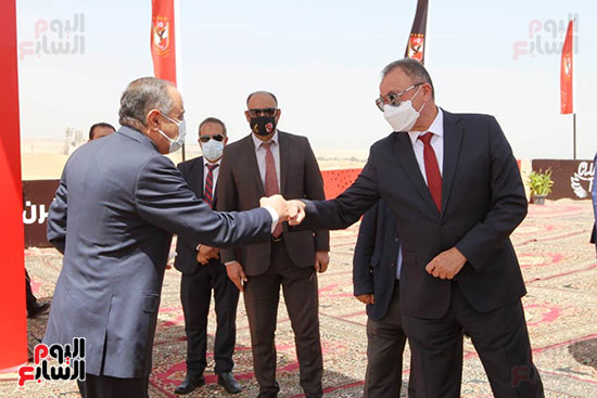 Ceremony laying the foundation stone for Al-Ahly Stadium (8)