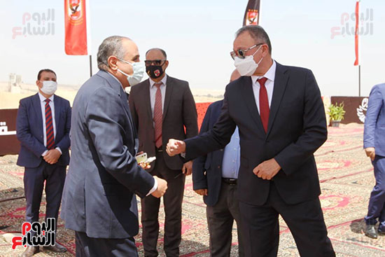 Ceremony laying the foundation stone for Al-Ahly Stadium (7)