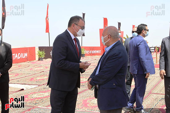 Ceremony of laying the foundation stone for Al-Ahly Stadium (2)