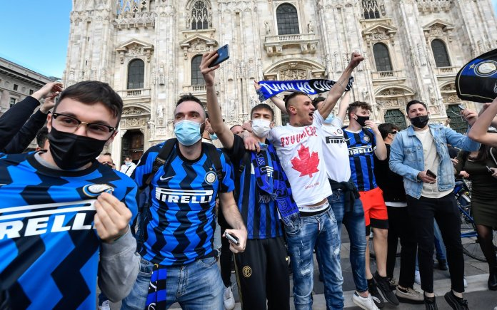 Celebrations of the Inter Milan fans of the Italian League title (1)