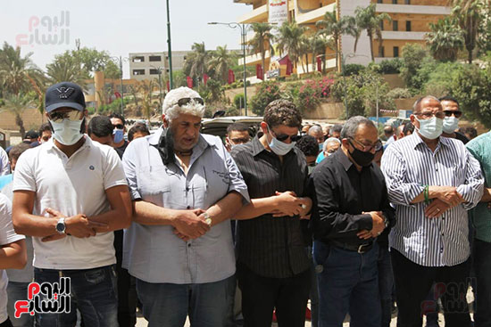 The funeral prayer for the artist Maher Al-Attar