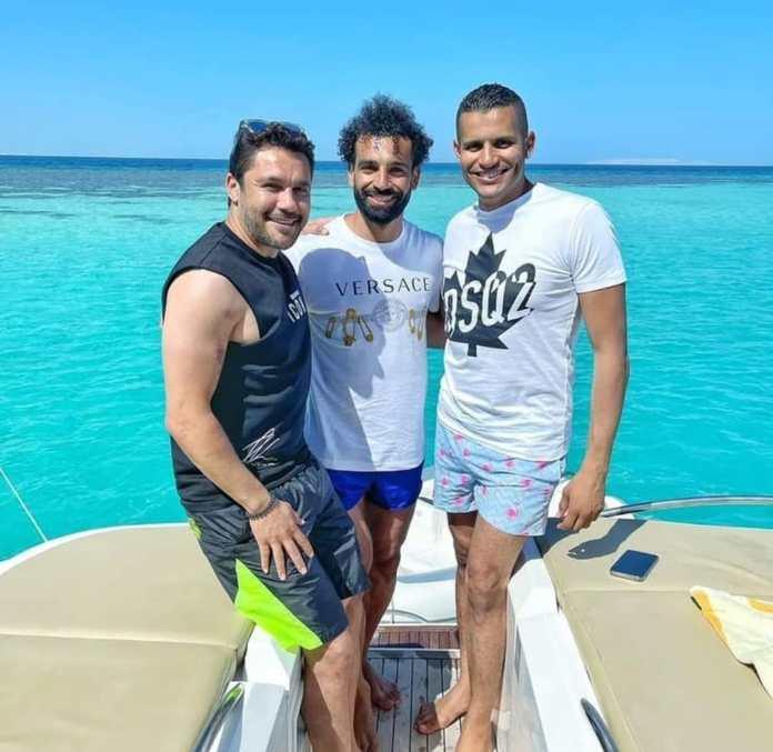 Mohamed Salah, Omar Rabie Yassin and Ahmed Hassan