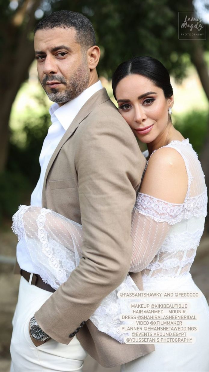 The first pictures of the wedding photoshoot