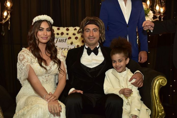 Hajar Ahmed and Ali Rabie in the best father