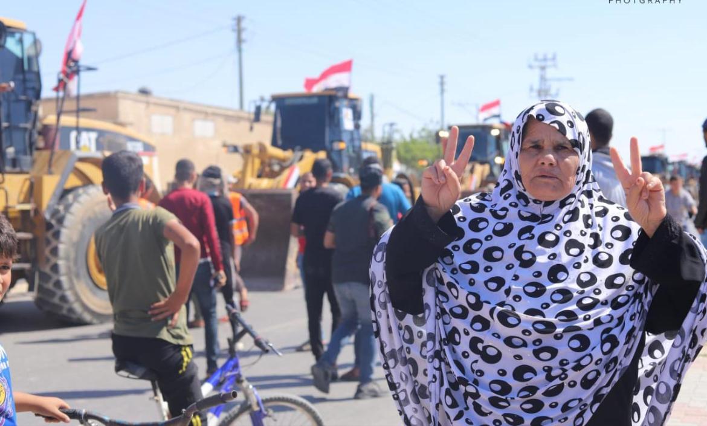 ترحيب فلسطيني شعبي بالاطقم الهندسية المصرية