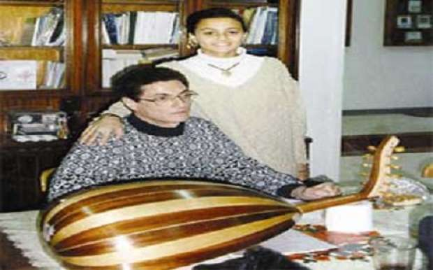 Actress Bushra and her father