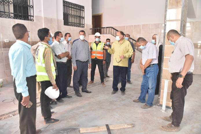 Assiut Governor inspects the construction of Al-Tanagha Al-Sharqiah Secondary School and a firefighting unit in Sahel Selim (14)