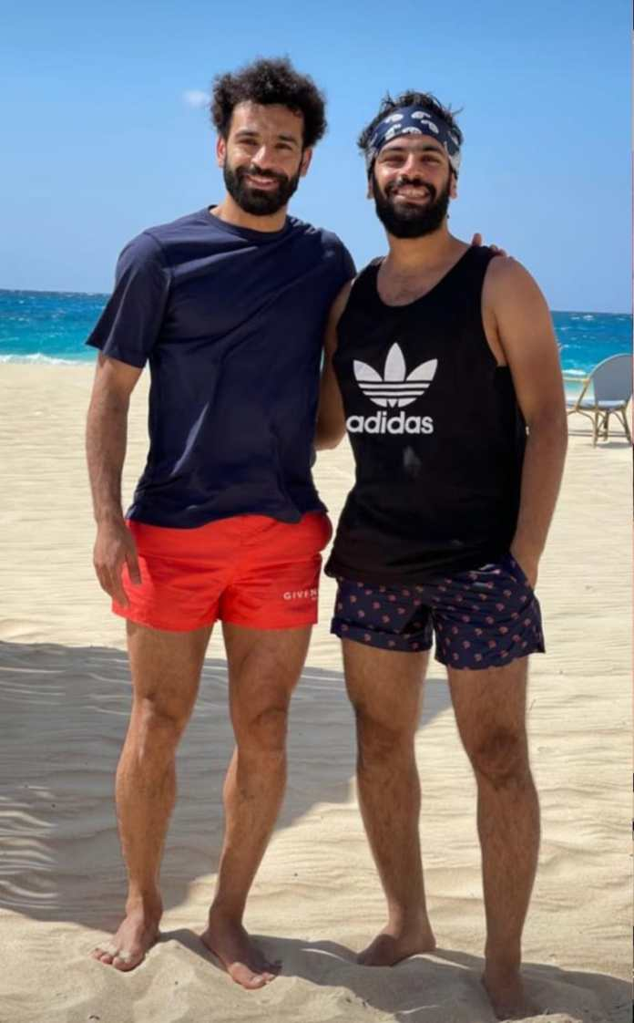 Mohamed Salah and his brother Nasser