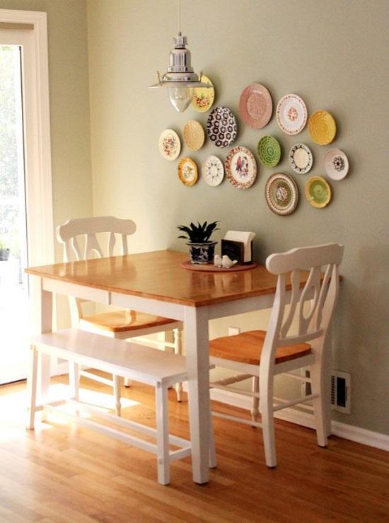 أفكار لديكور غرفة طعام ضيقة المساحة..مقاعد