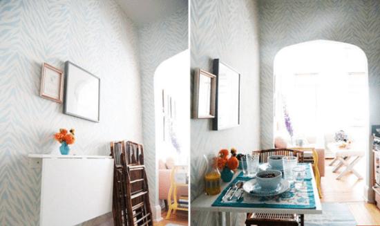 أفكار لديكور غرفة طعام ضيقة..طاولة قابلة للطى