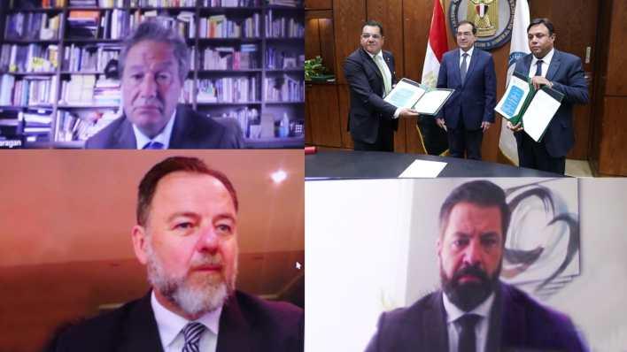 وزير البترول والثروة المعدنية خلال التوقيع مع B2 Gold hg;k]dm