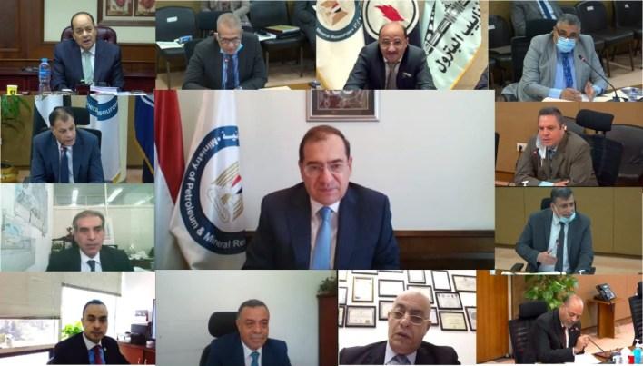 المهندس طارق الملا وزير البترول والثروة المعدنية خلال جمعية شركة أنابيب البترول