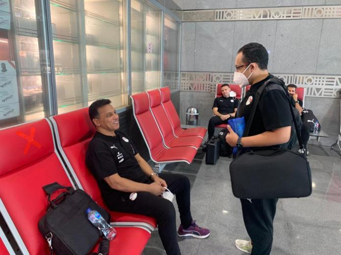 The Egyptian national team arrives at Cairo airport in preparation for travel to Gabon (22)