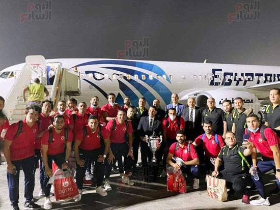 Al-Ahly delegation arrives in Cairo crowned with the title of African Cup Winners' Cup (2)
