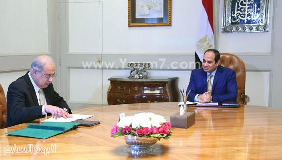 شريف اسماعيل السيسى عبد الفتاح السيسى مجلس الوزراء (2)