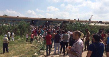 """""""الصحة"""": 36 حالة وفاة وإصابة 123 أخرين فى حادث تصادم قطارين بالإسكندرية"""