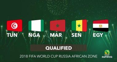 الكاف يوجه رسالة لممثلى أفريقيا فى كأس العالم 2018 اليوم